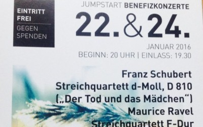 Jump Start Benefizkonzert: 22. & 24. Januar 2016